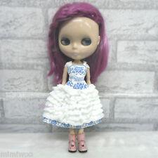 Blythe Momoko Pullip Obitsu Jenny DAL 1/6 Bjd Doll Outfit Roman Cake Layer Dress