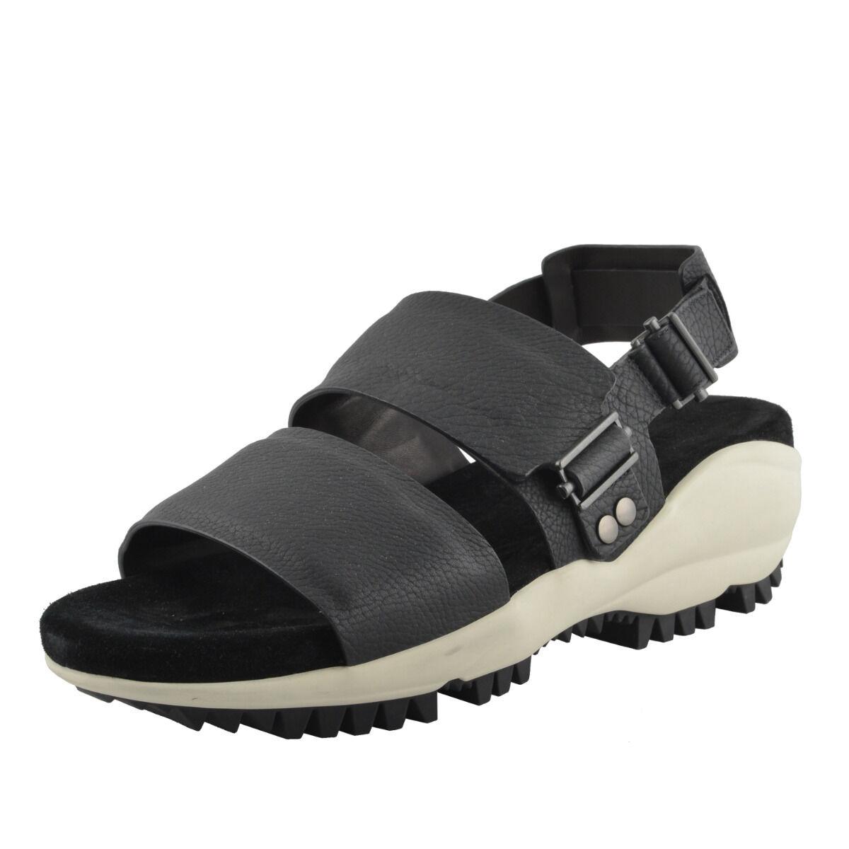 Lanvin Para Hombre Negro Cuero Gamuza Sandalias Zapatos nos 13, 12 de la UE 46