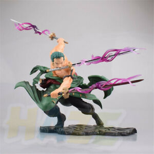 One-Piece-Roronoa-Zoro-Battle-Ver-9-034-PVC-Action-Figure-Statue-Model-Toy-In-Box