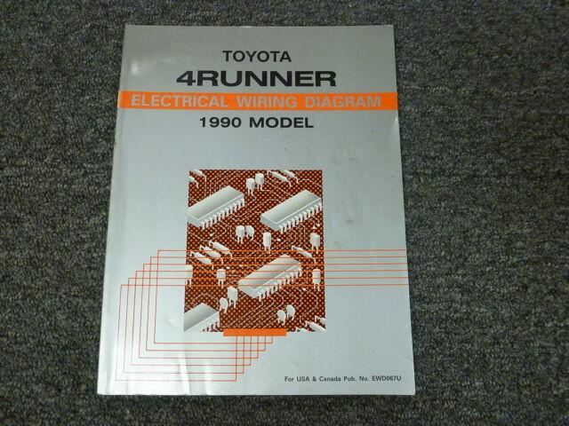 1990 Toyota 4runner Suv Electrical Wiring Diagram Manual