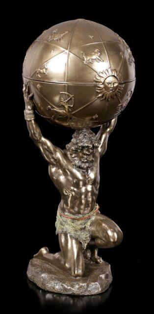 Atlas Figurine Ours Die Welt sur Épaulettes Boîte veronese Statuette Grec Dieu