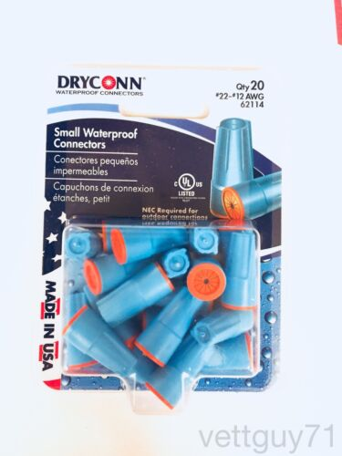 DryConn Aqua Outdoor Waterproof Silicone Wire Connectors Small//Medium//Large Nut