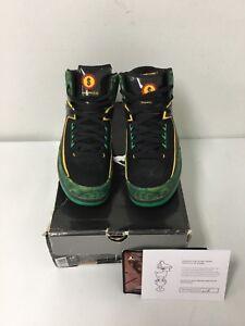 4949f4652b8c97 Nike Air Jordan 2 Retro High DB Doernbecher Blk Gld-Green 318304-071 ...