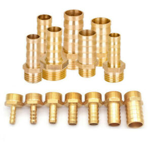 "Elbow BSP Brass Female Thread Fitting x Barb Hose Tail Connector 1//4/"" 3//8/"" 1//2/"""