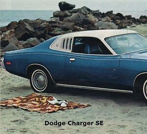 Belt Line Sweeper Set For 1973 1974 Dodge Charger Se Ebay