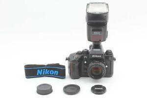 {ALMOST MINT 245XXXX} Nikon F4 + AF 50mm f1.4D Lens + Flash SB-25 JAPAN #886N