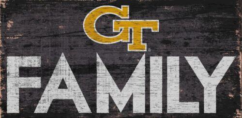 "GA Tech Yellow Jackets FAMILY Football Wood Sign NEW 12/"" x 6/""  Decoration Gift"