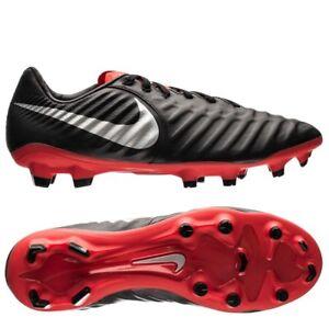 wholesale dealer 07d02 683e8 Details about Nike Tiempo Legend 7 Pro FG Soccer Cleats Black Silver Red  AH7241-006 Men's NEW