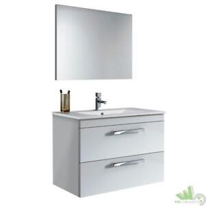 Mobili Bagno In Kit.Kit Mobile Bagno Sospeso Cm 80x45x57h Con Specchio Bianco Senza