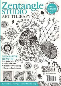 Image Is Loading ZENTANGLE Studio ART THERAPY Learn Meditative Drawing Coloring