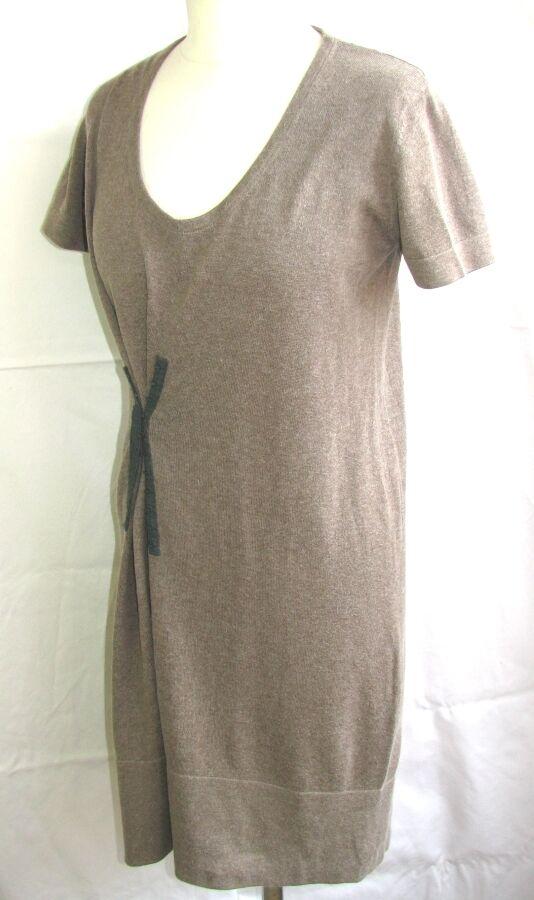 COMPTOIR DES COTONNIERS - DRESS DRESS DRESS M. SHORT LAURELLA COTTON ANGORA BROWN T 38 -TBE 8b1d67