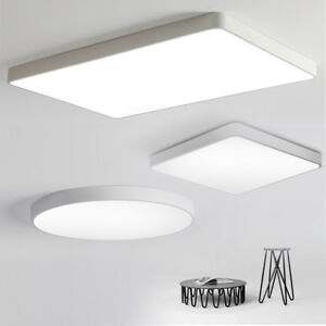 Details About Led Ceiling Light Ultra Thin Dimmable Flush Mount Kitchen Lamp Home Fixture Us