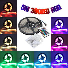5Mtr Non Waterproof 300 LED 5050 RGB Flexi Strip Light +24Key Remote(no adapter)