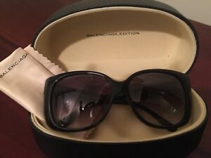 5fa1bd808f Image is loading 100-Balenciaga-Edition-Women-Black-Sunglasses