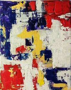 Original abstract fine art painting, textured, 8X10 canvas, contemporary modern.