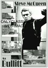 1968 STEVE MCQUEEN DETECTIVE BULLITT MOVIE 5X7 PHOTO MUSTANG CHARGER AUTOMOBILIA