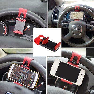 Supporto Porta Cellulare Smartphone Universale da Volante per Auto Sterzo