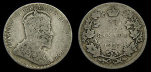 1903-Canada-Silver-Quarter-25-Cents-King-Edward-VII-G-4