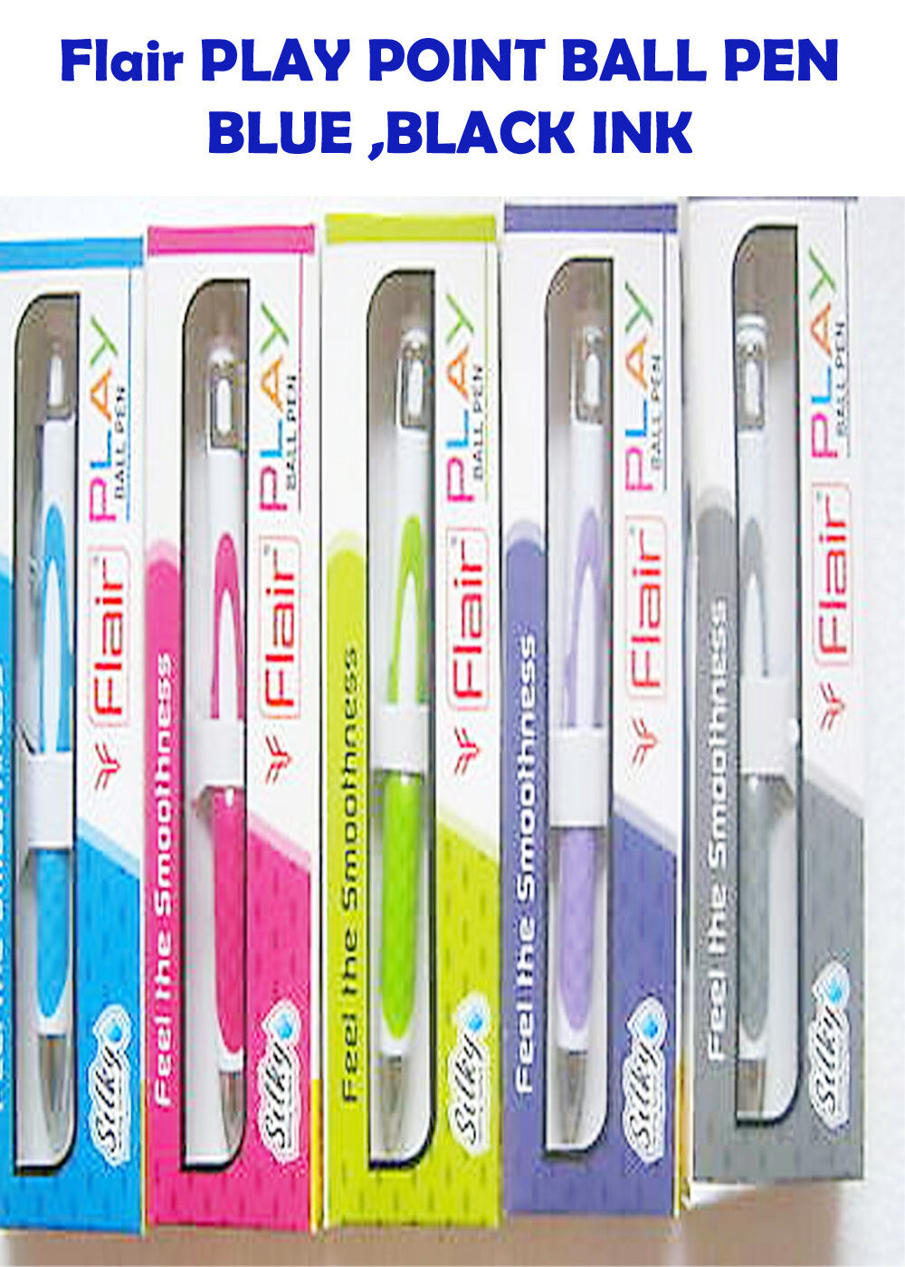 Flair PLAY POINT BALL PEN blueE INK MIX BODY COLOR 30+5=35pcs