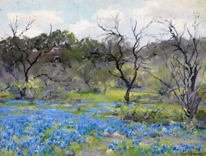 Early-Spring-Bluebonnets-Oil-Painting-HD-Printed-on-canvas-12-034-x16-034-L1730