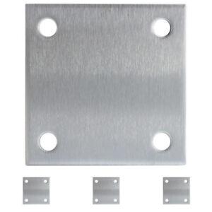 Ankerplatte Edelstahl gelochte Platte Ankerplatten V2A Platten 100 / 120 mm