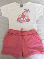 Girls 10 Boutique Charlie Rocket Pink Rollerblading Outfit Top Shorts