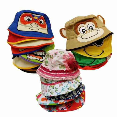 *CLEARANCE* SUN HAT Kids Childrens Toddlers Boys Girls Beach Sun Bucket Cap Gift