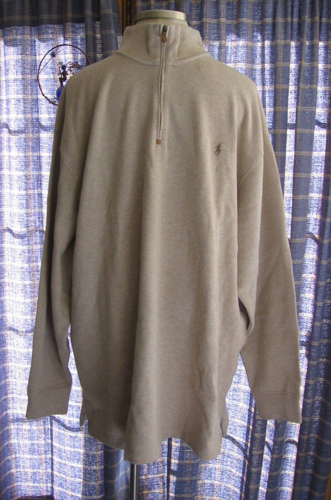Herren Ralph Lauren Big & Tall 1/2 Zip Braun Sweatshirt NWT 110 2XLT 3XLT 4XLT
