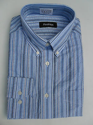 Shirt S Men Formal Classic Fit Long Sleeve Size S,M,L,XL New