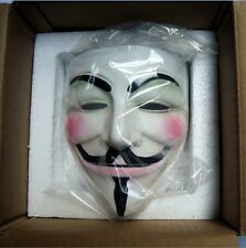 new Cosplay Halloween Guy Fawkes V FOR Vendetta Anonymous mask Resin Adult resin