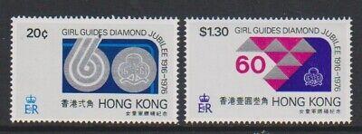 1976 Mnh Sg 354/5 KöStlich Im Geschmack Sechzigjähriges Jubiläum Of Girl Guide Set Brillant Hong Kong