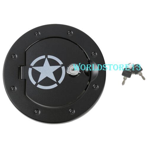Five Star Aluminum Fuel Tank Gas Cap w// Key-Black fit 2007-2018 Jeep Wrangler JK