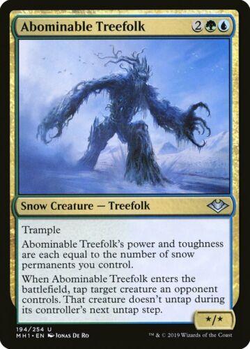 MTG Magic card Abominable Treefolk Modern Horizons Uncommon #194 Mint