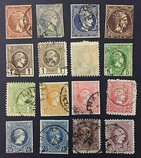🔴 GRECIA GREECE 1861-86 16VAL.  VARI COLORI FOR DESCRIPTION LOOK AT THE PICTURE