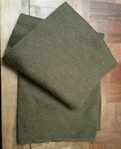 US Military Army Wool Scarf Cold Weather OD Green Tube Double Knit USGI EXC