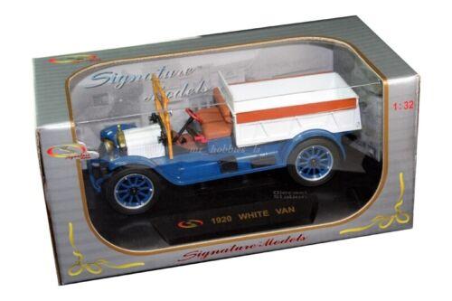 BLUE BY SIGNATURE 32393 1920 WHITE VAN PICK UP TRUCK DIE CAST 1//32 WHITE