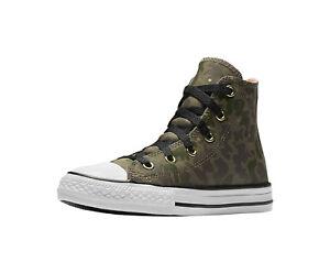 eficiencia Vuelo siete y media  CONVERSE All Star Surplus Camouflage Crimson Camo Girl Boys Kids Sneakers  Shoes | eBay