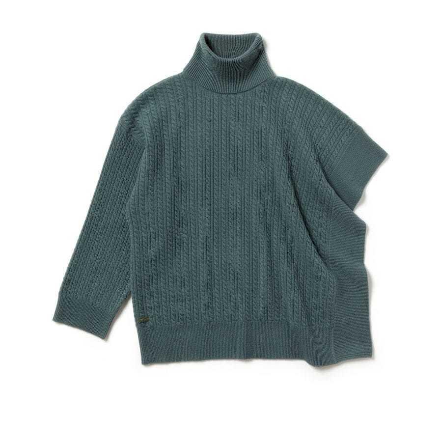LACOSTE LACOSTE LACOSTE Édition Défilé Pull à manches asymétriques en laine et cachemire 9882d0