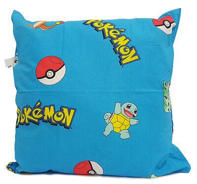 "Large Genuine Pokemon Cushion 21"" Square - Blue - 100% Cotton - Ready To Go"