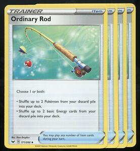 171//202 ORDINARY ROD PLAYSET X4 BASE POKEMON SWORD /& SHIELD