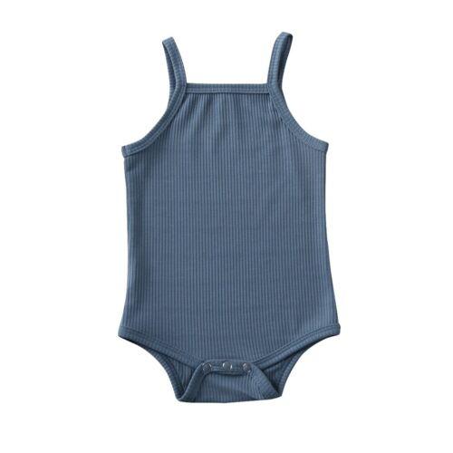 US Summer Newborn Infant Baby Girls Boy Cotton Romper Outfits Jumpsuit Bodysuit