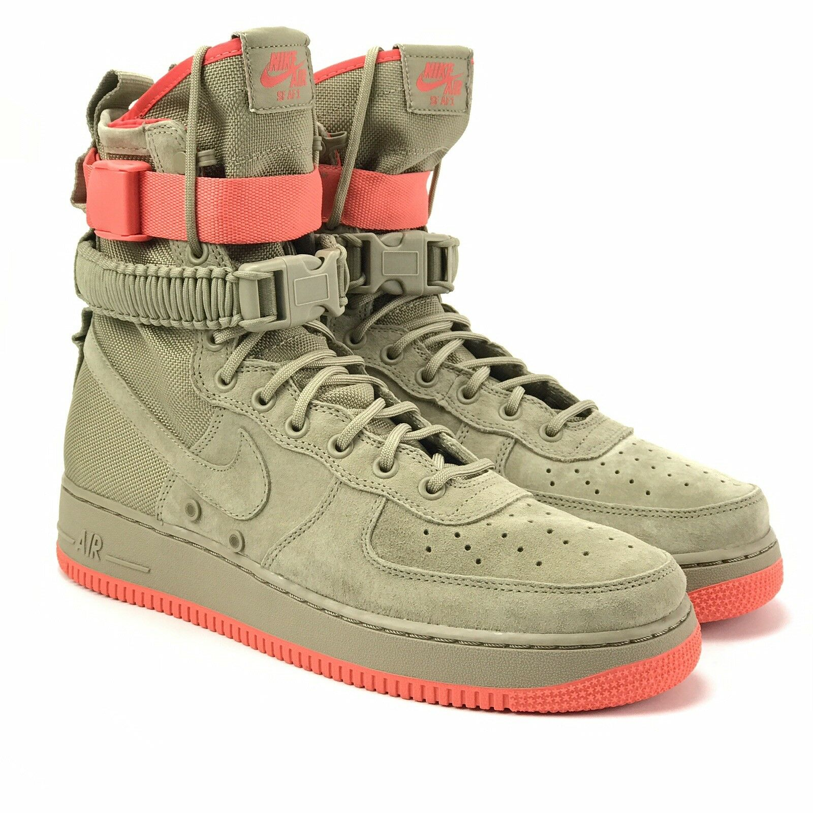 Nike Air Mens SF AF1 Special Forces Air Force One Khaki Rush Coral Size 9