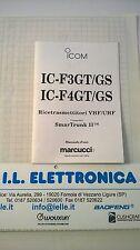 MANUALE IN ITALIANO istruzioni d'uso per ICOM IC-F3/F4 GT/GS