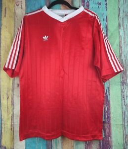 4ed739825d2 Image is loading Vintage-ADIDAS-Mens-Sz-XL-Jersey-Shirt-Red-
