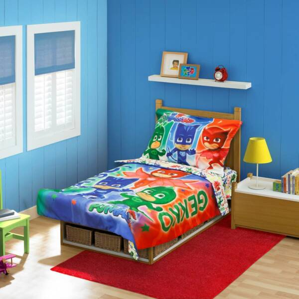 pj masks catboy owlete gekko 4 pc toddler bed set blue ebay 17461 | s l600