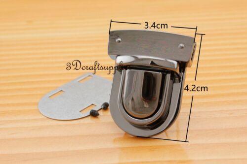 Sac à main Lock Wallet Pouce Loquet Languette Fermoir Gunmetal 1 3//8 Pouces X 1 3//4 Pouces N63