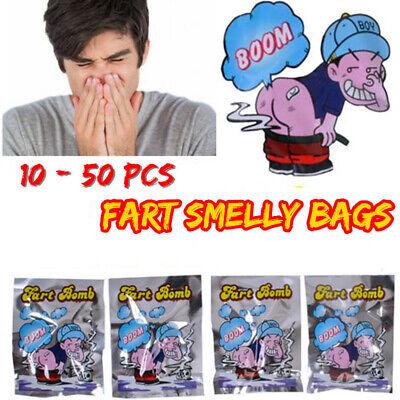 10pcs Stinky Gas Fart Bomb Bags Smelly Nasty Joke Funny Prank Trick Novelty Toys
