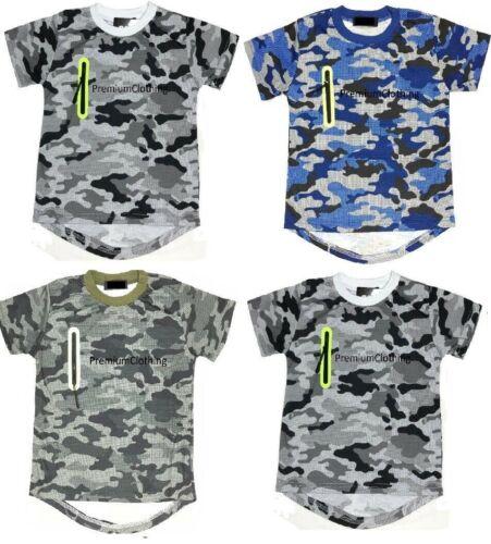 Garçons Camouflage Armée T shirts Camouflage à manches courtes enfants Tops Casual Polo en coton TT