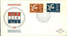 Ersttagsbrief Eerste Dag Uitgifte EUROPA Briefmarken 1961 Stempel Gravenhage