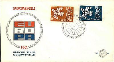 Diplomatic Ersttagsbrief Eerste Dag Uitgifte Europa Briefmarken 1961 Stempel Gravenhage Modern Techniques Briefmarken